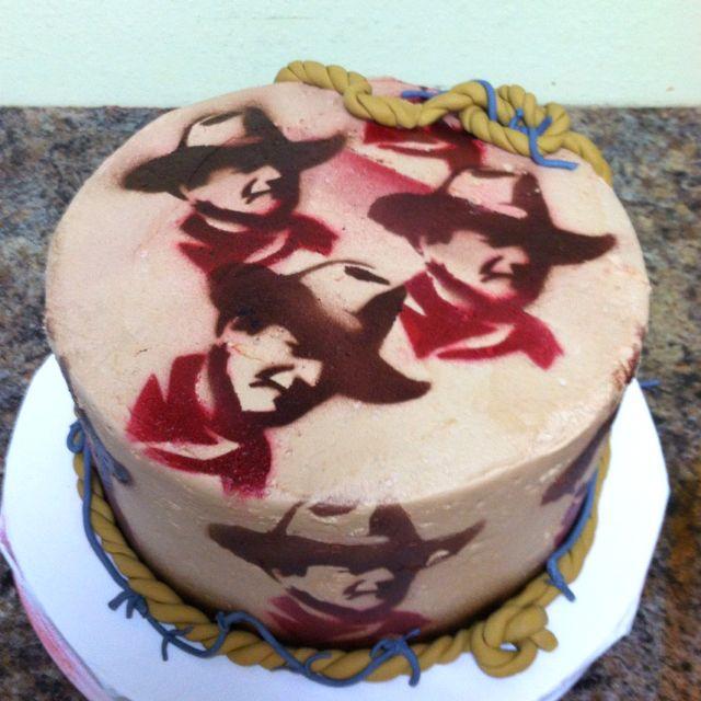John Wayne Birthday Cake Made By Desis Custom Cakes Desis