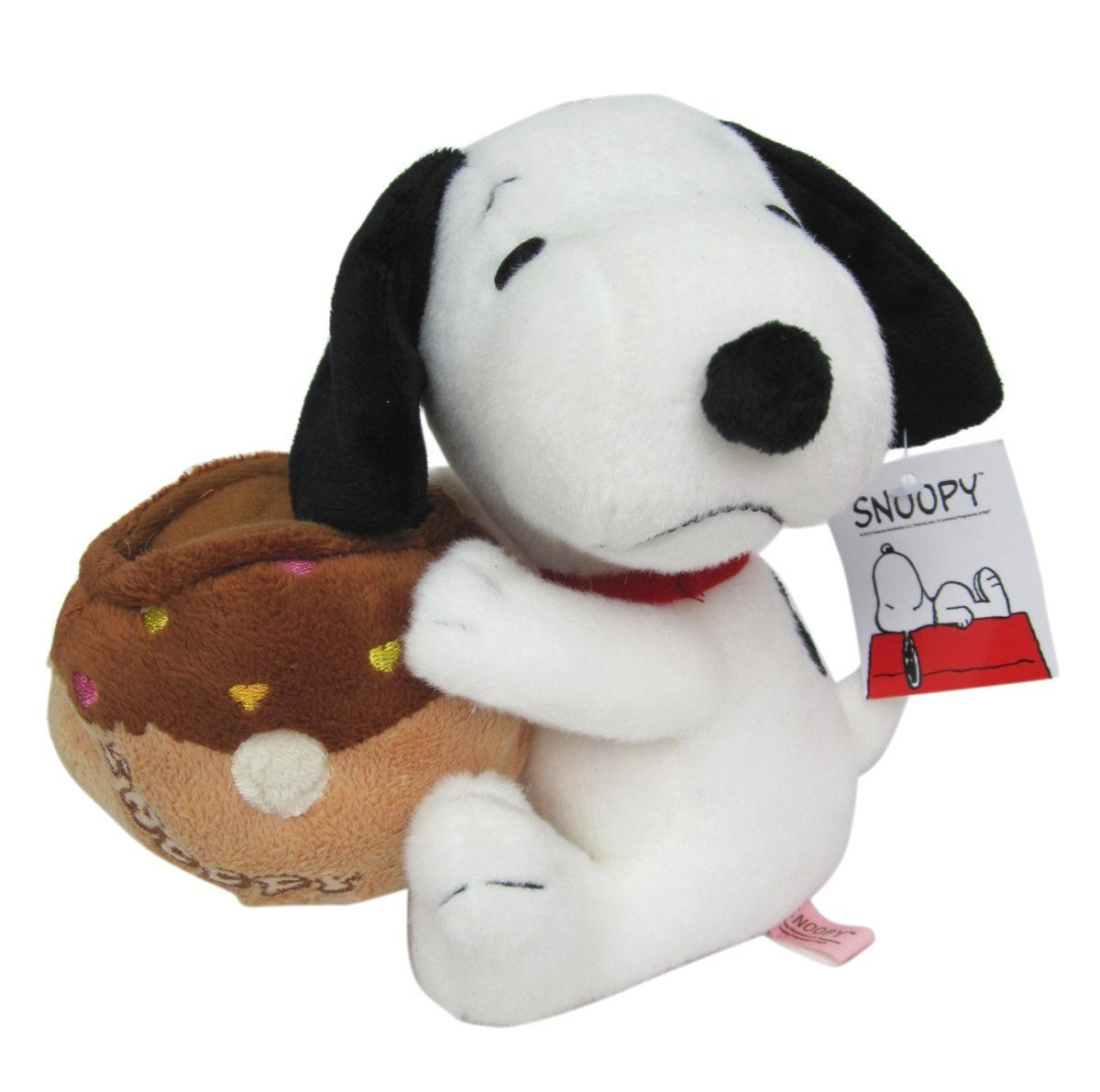 6in Snoopy Plush Gift Card Holder Brown Peanuts Stuffed Animal