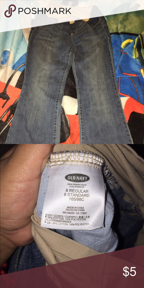 Maternity jeans Like new used once! Old Navy Jeans Boot Cut