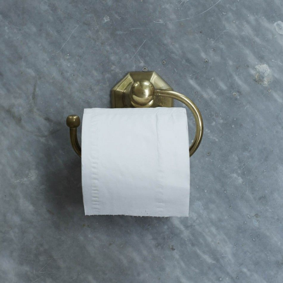 Octa Brass Toilet Roll Holder | Bathroom ideas | Pinterest | Toilet ...