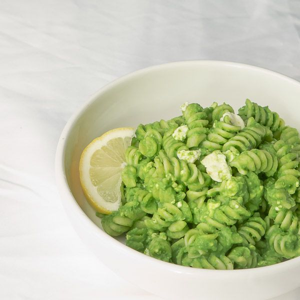 Green Pea Pasta with Feta