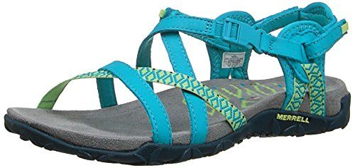 Merrell Womens Terran Lattice II Sandal Teal 9 M US -- See this great product.