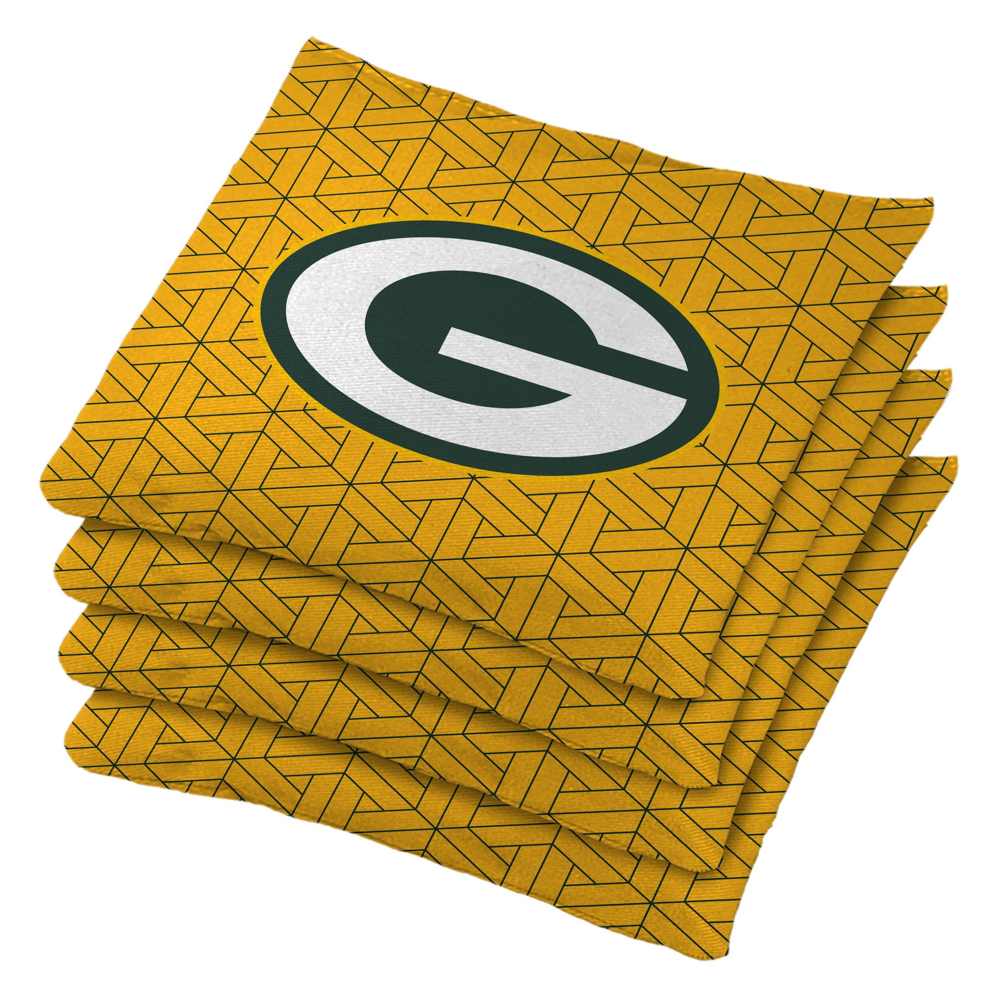 Green Bay Packers 4pk Bean Bag Set Yellow With Images Green Bay Packers Bag Set Green Bay