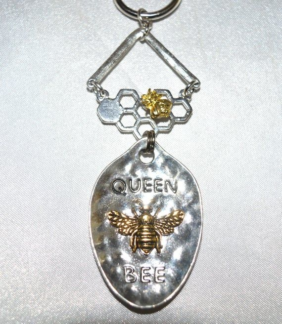 Queen Bee Shower Curtain Hooks Set Of 12 Hammered Silver With