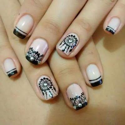 Unas Decoradas Con Atrapasuenos Una Nails Nail Art Y Nail Designs