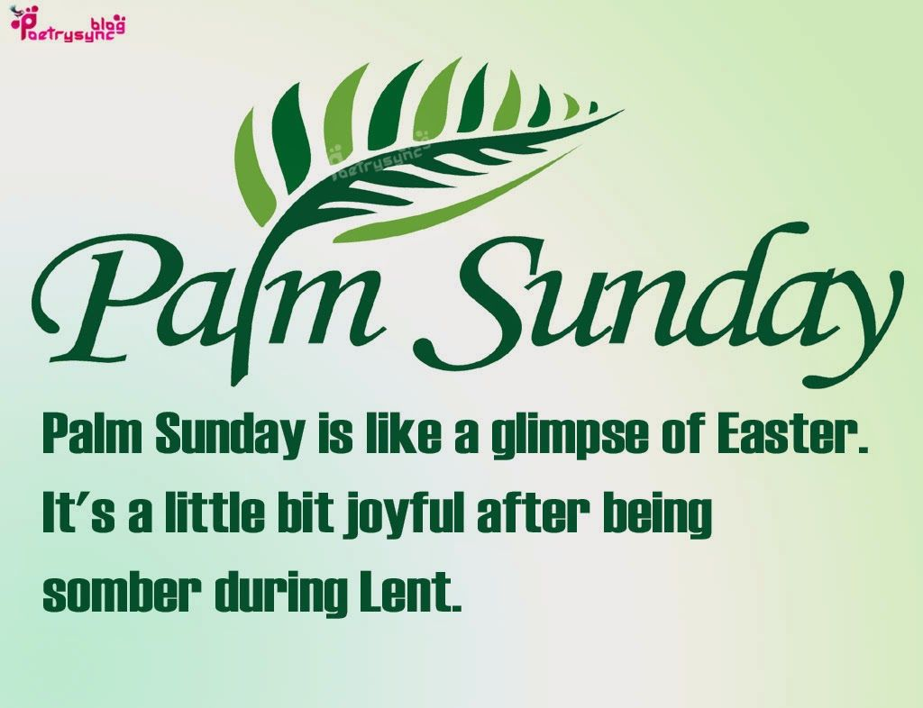 Palm Sunday Holy Week Best Wishes Quote Picture Palm