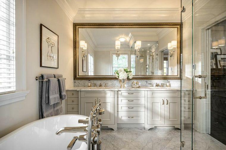 Mobile Bagno Color Crema : Idee rivestimento bagno mobile di legno colore bianco crema