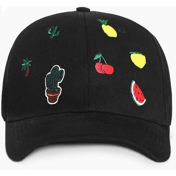8c27014c27d Boohoo Alexis Pineapple   Watermelon Baseball Cap ( 12) ❤ liked on Polyvore  featuring accessories
