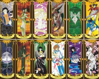 CLAMP Tarot Card Deck Anime and Manga Characters - Chobits, Card Captor Sakura, xxxHolic, Rayearth, Clover, Tsubasa, X, Wish & More