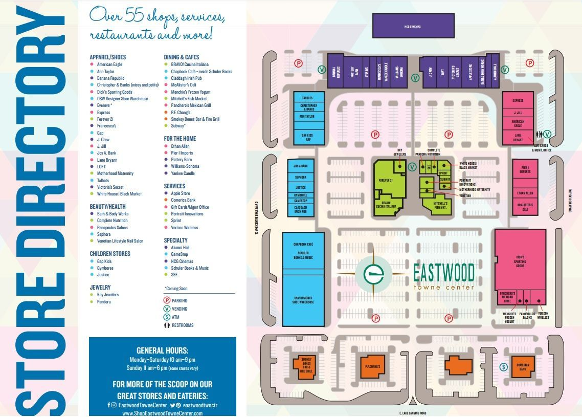 Eastwood towne center shopping plan black friday holiday