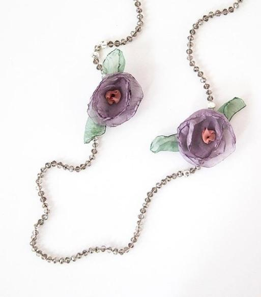 Lilac Flower Necklace Lilac Flowers Necklace Flower Necklace