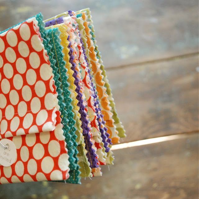 fabric envelopes for party invites