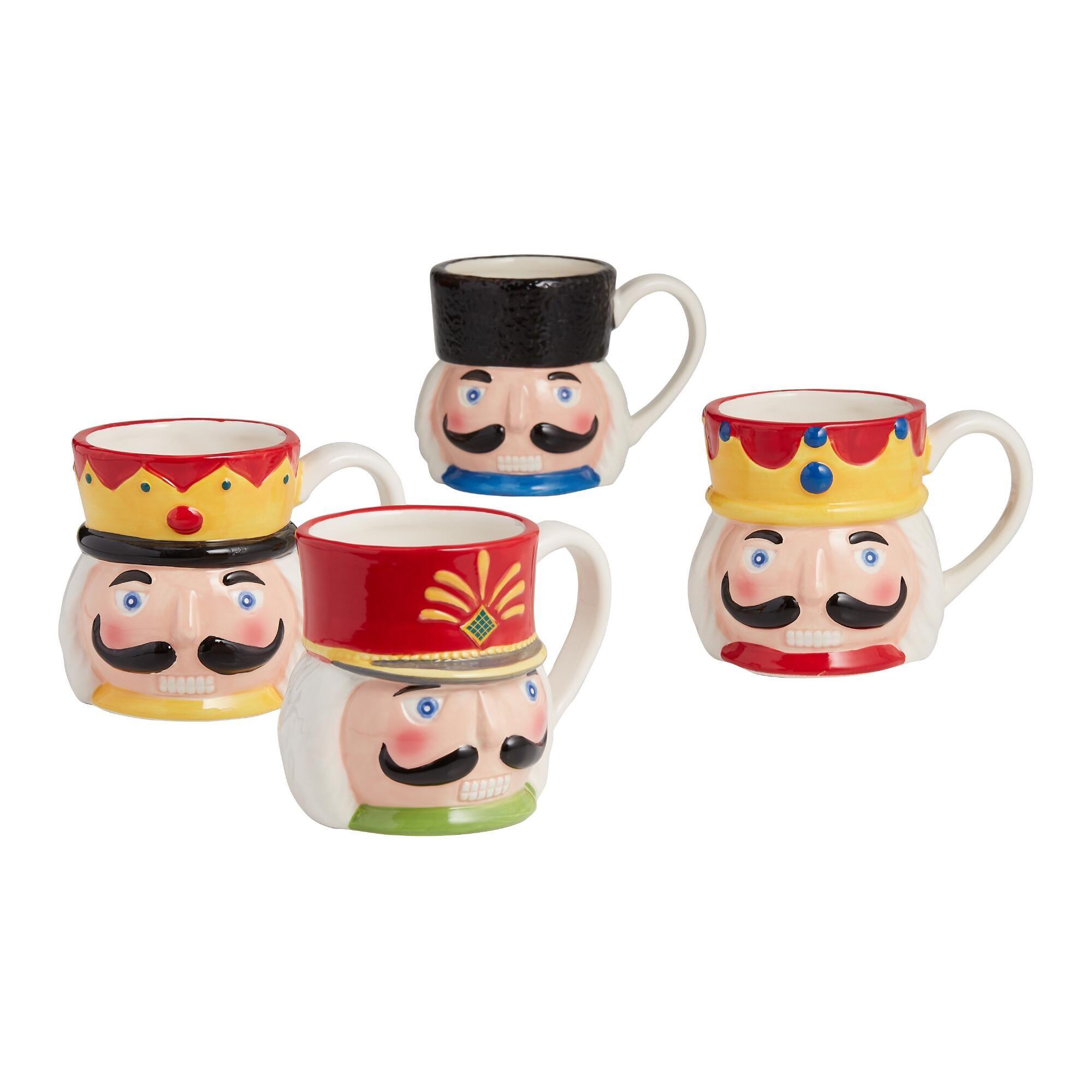 Nutcracker Mugs Set of 4 by World Market Unique coffee