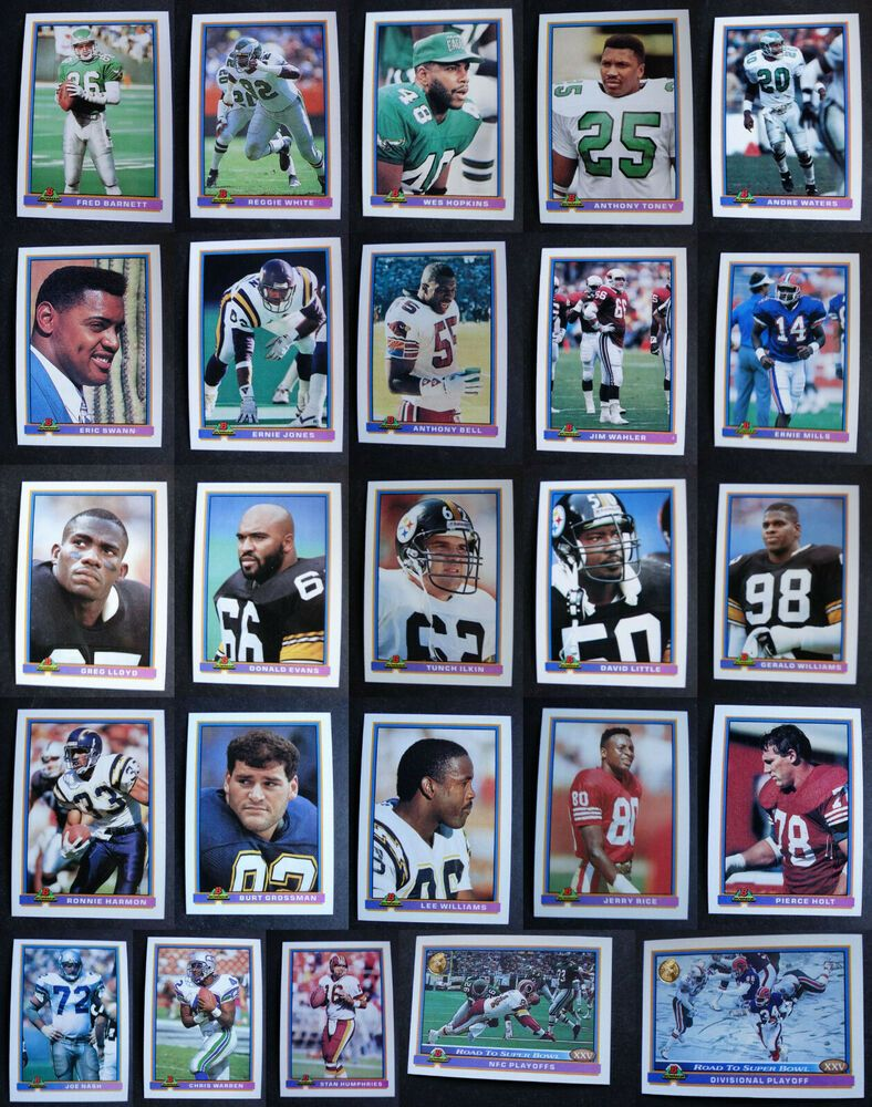 1991 bowman football cards complete your set you u pick