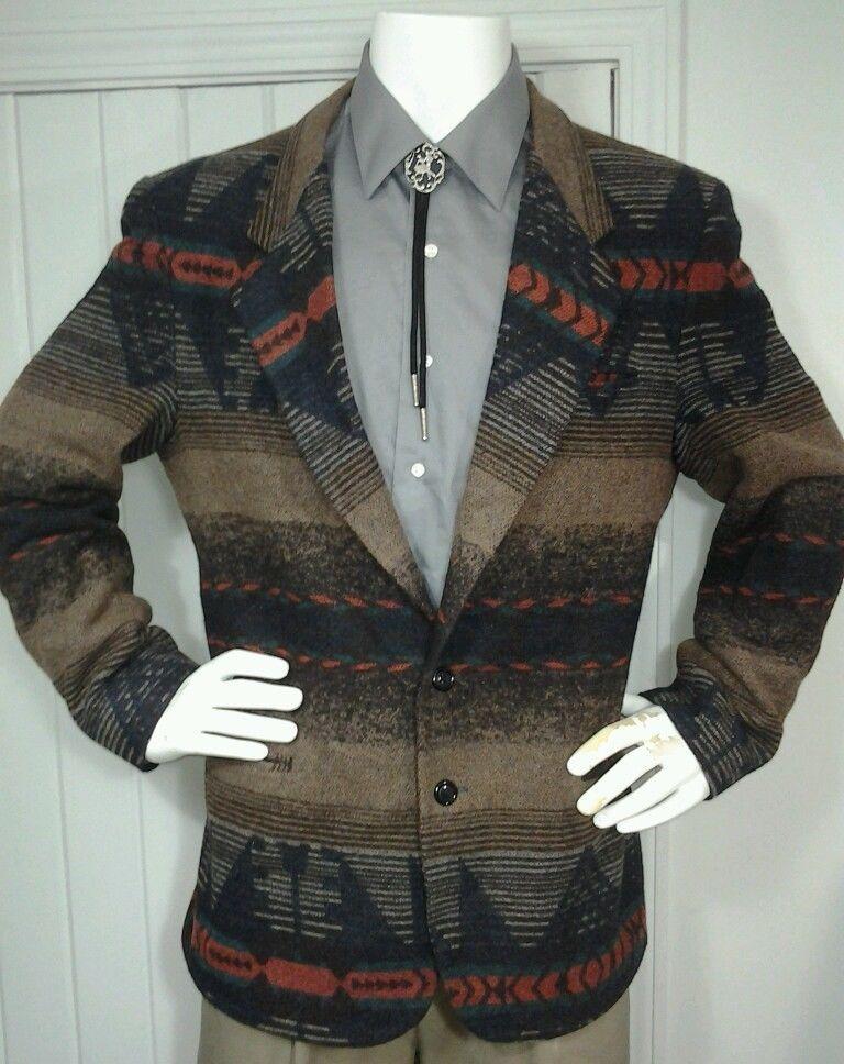 Mens SILVERADO Western Rockabilly Cowboy Wool blazer