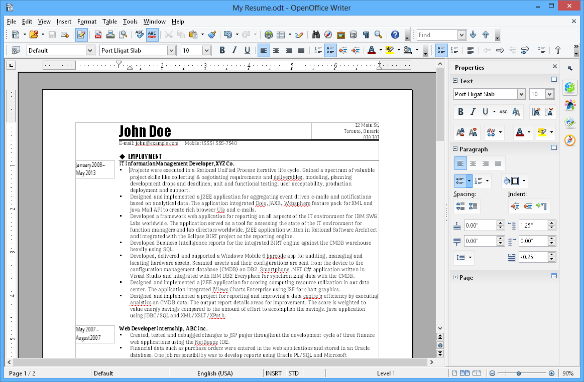 screendump of apache openoffice writer | for the home | pinterest, Open Office Presentation Template Download, Presentation templates