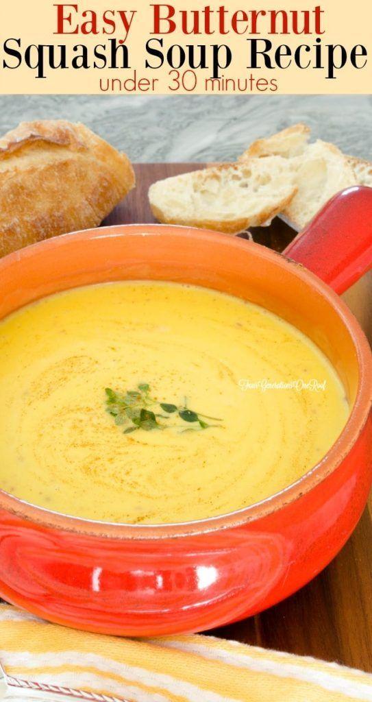 Easy Butternut Squash Soup #butternutsquashsoup