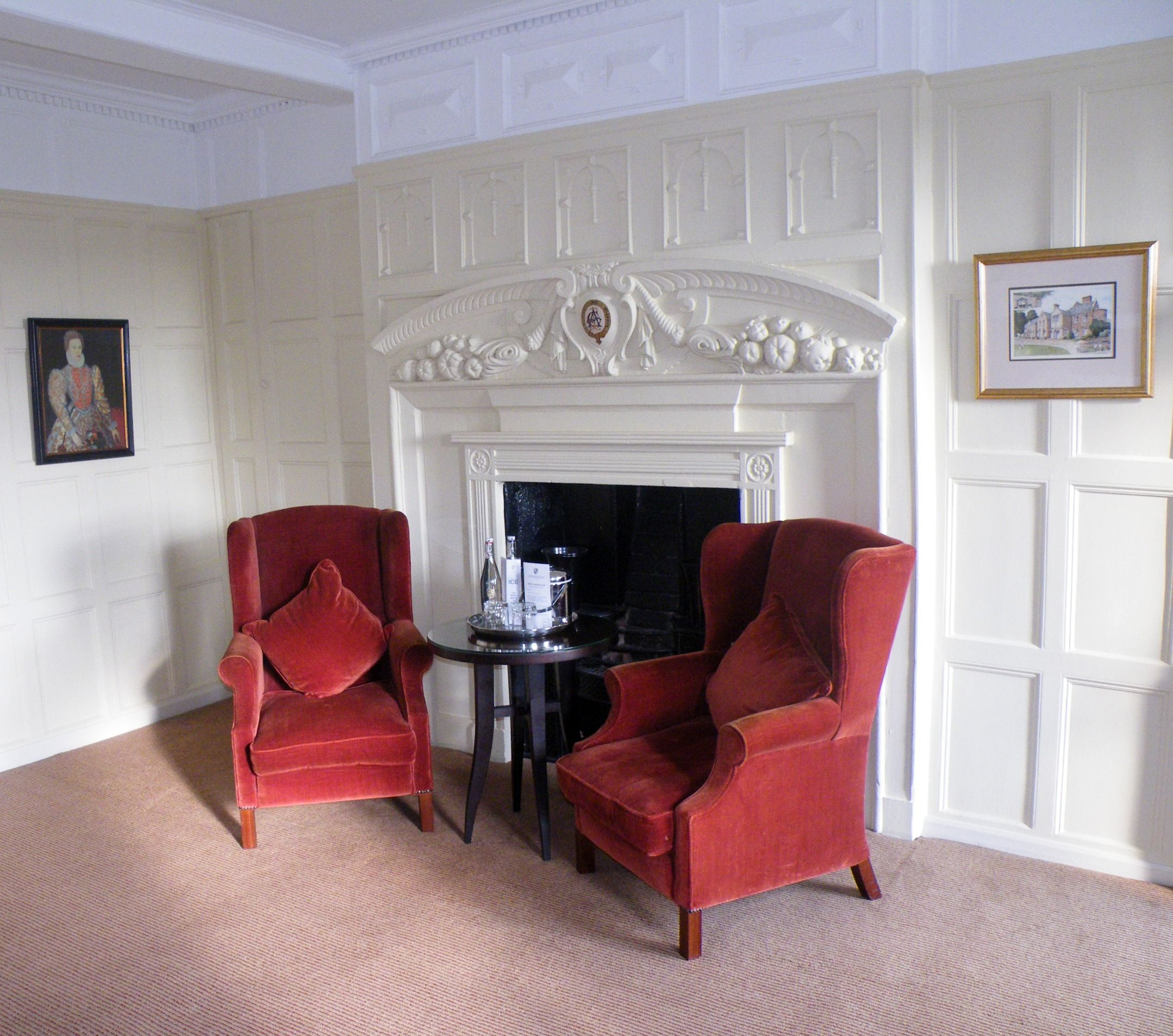 Feature fireplace in bedroom 234