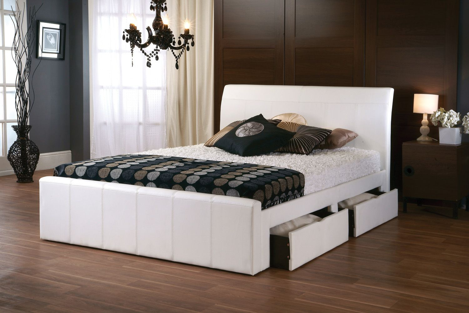 Surprising 5Ft New York White Faux Leather Bed Frame 479 95 Dailytribune Chair Design For Home Dailytribuneorg