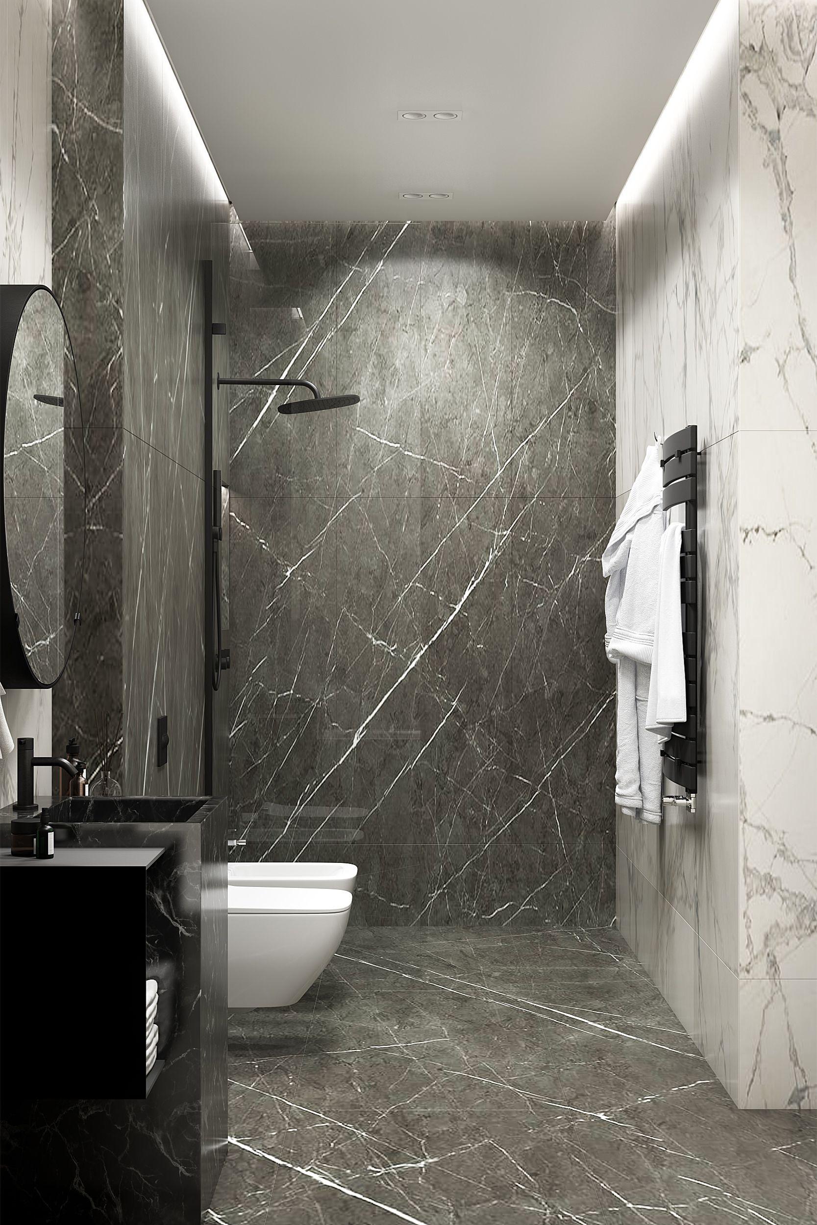 Cocoon Gunmetal Black Shower Mixer Set Combined With Marble Walls U Design Www Bycocoon Com Mit Bildern Stein Badezimmer