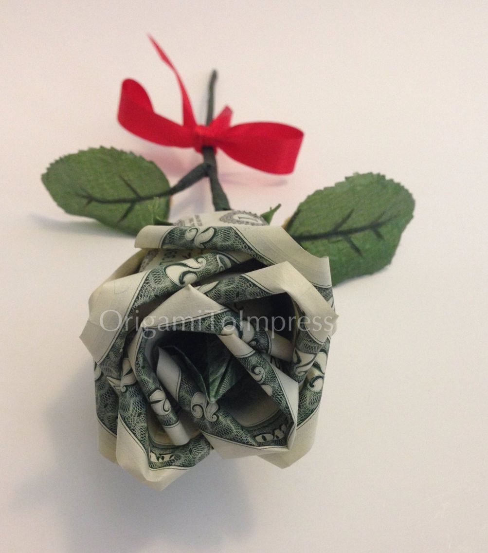 Beautiful money origami art pieces many designs made of real 2 bill flower rose money origami dollar bill art jeuxipadfo Choice Image