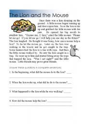 Printables The Lion And The Mouse Worksheets worksheets the lion and teaching on pinterest