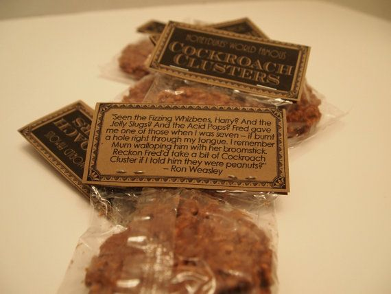HARRY POTTER party favors Cockroach by HighHeeledHousewife on Etsy