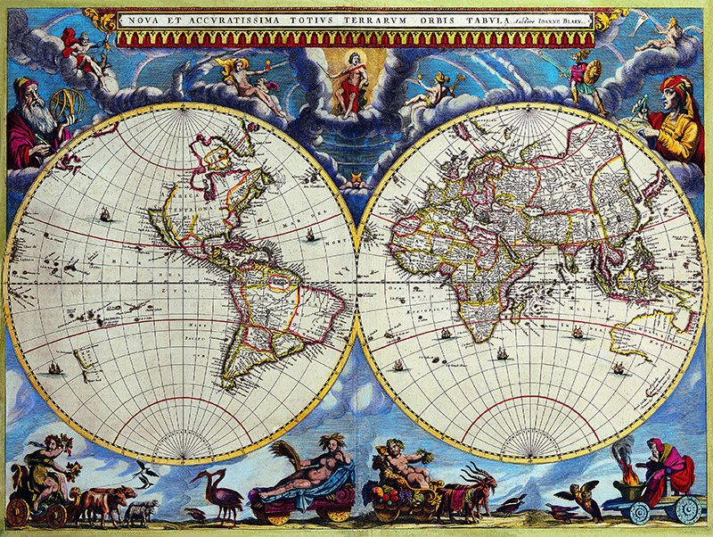 Old World Map, Gift for Dad, World Map, Map of the World, Old Maps - new antique world map images