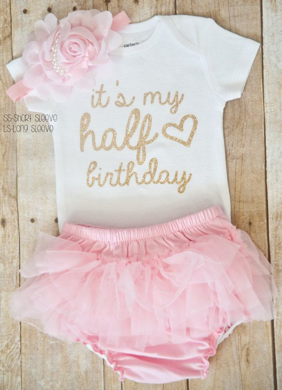 4a37d16e7 Half Birthday Outfit, half birthday, Personalized half birthday outfit, girls  birthday outfit by LucysChicBoutique on Etsy