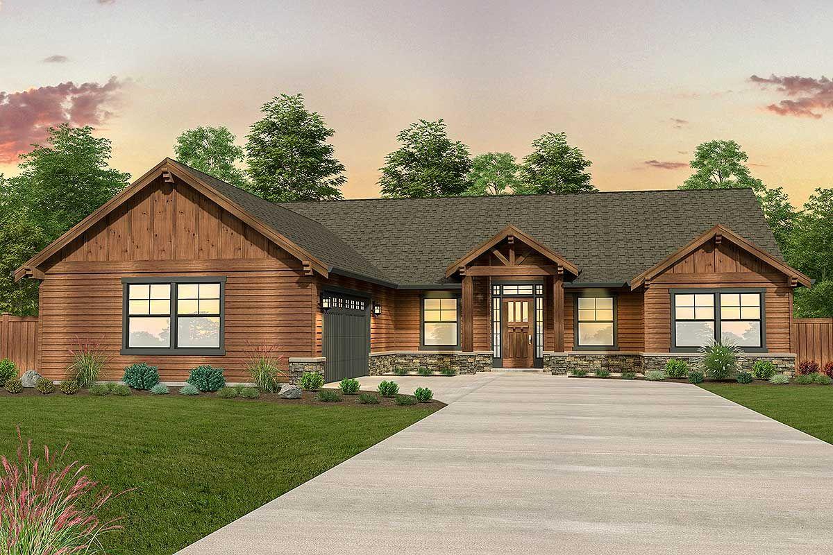 Plan 85218MS: Mountain Ranch Home Plan | Architectural design house ...