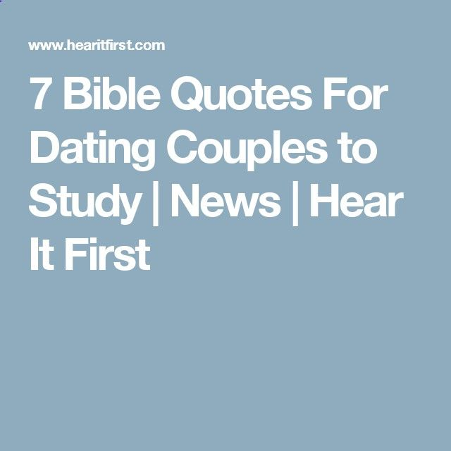 Dating couples bible study ideas