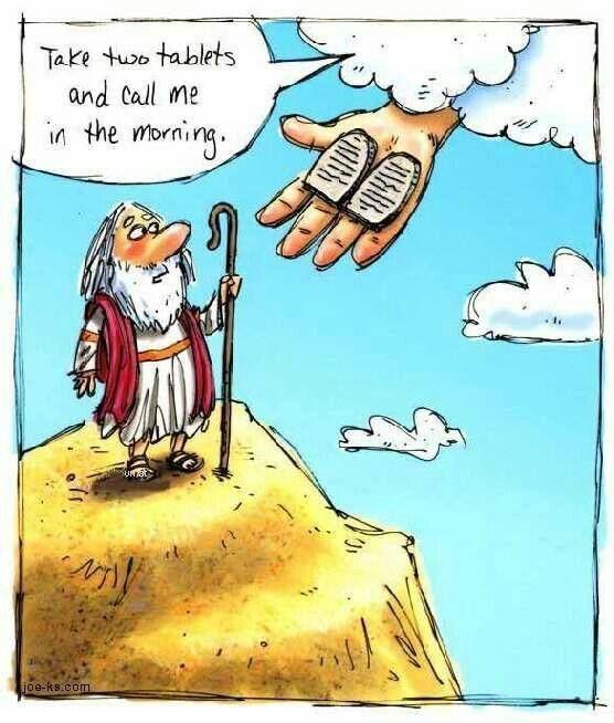 Bible Moses 10commandments Bible Jokes Bible Humor