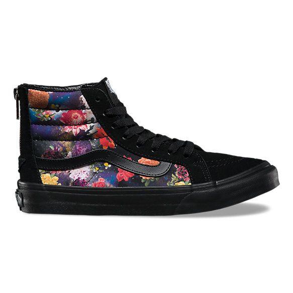 Galaxy Floral SK8Hi Slim Zip | Shop Womens Shoes at Vans