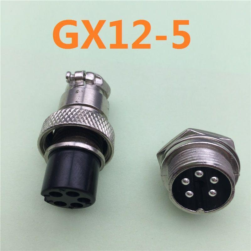 1 개 GX12 5 핀 남성 및 여성 12 미리메터 와이어 패널 커넥터 항공 ...