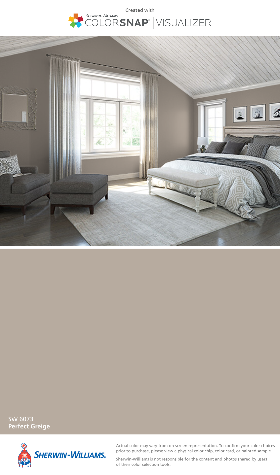 I Found This Color With Colorsnap Visualizer For Iphone By Sherwin Williams Perfect Greige Sw 6073