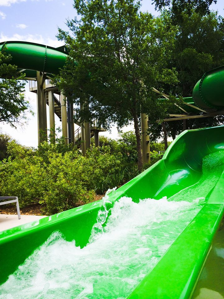 Slip And Slide Down Our 22 Water Slide At Our 5 Acre Water Park The Kids Can T Get Enough Hill Country Resort Family Friendly Resorts San Antonio Hotels