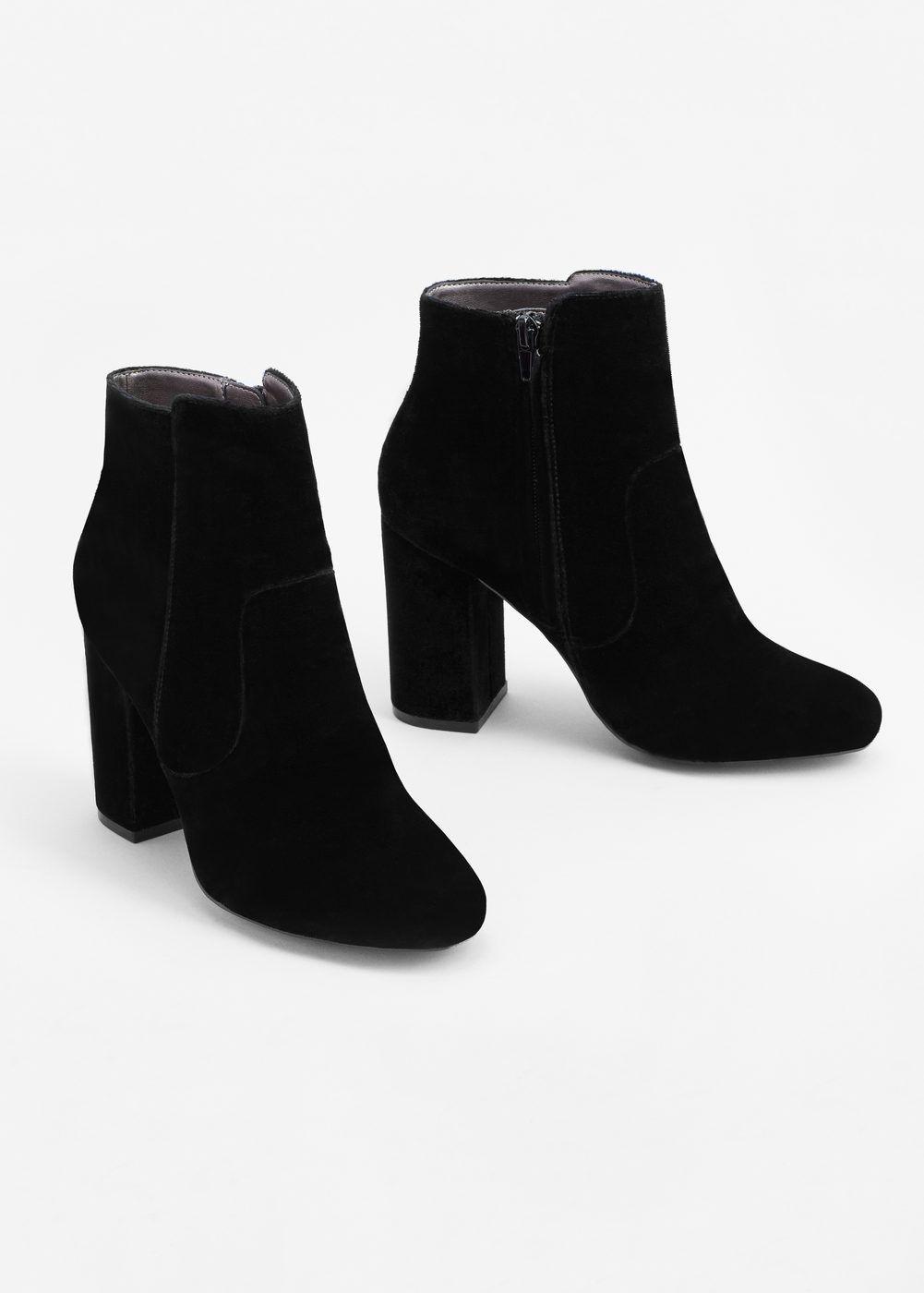 diseño moderno estilo máximo exuberante en diseño Botín terciopelo tacón - Mujer en 2019 | Zapatos, Zapatos ...
