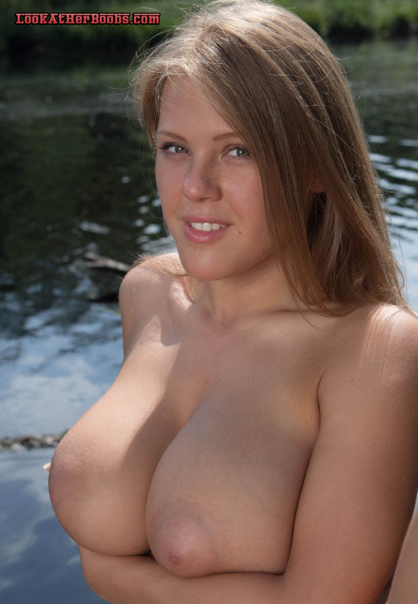 topless coed with puffy nipples