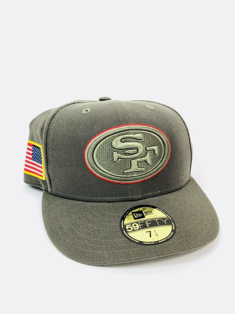 cadd880c8 NWT New Era San Francisco 49ers Olive Salute To Service 59FIFTY Fitted Hat  7 1 4 886613203010