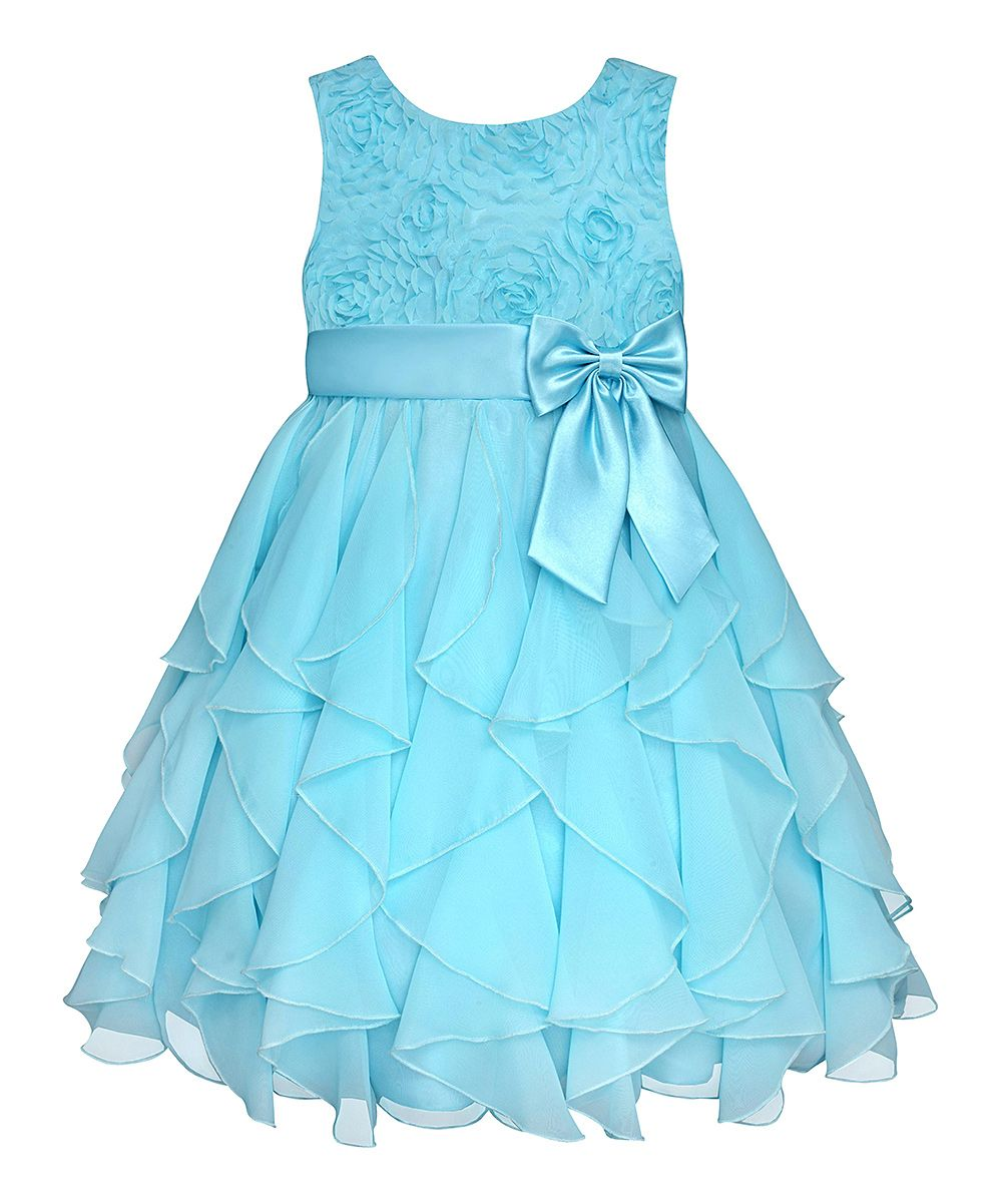 8798614db Easter Blue Rosette Ruffle Dress - Infant