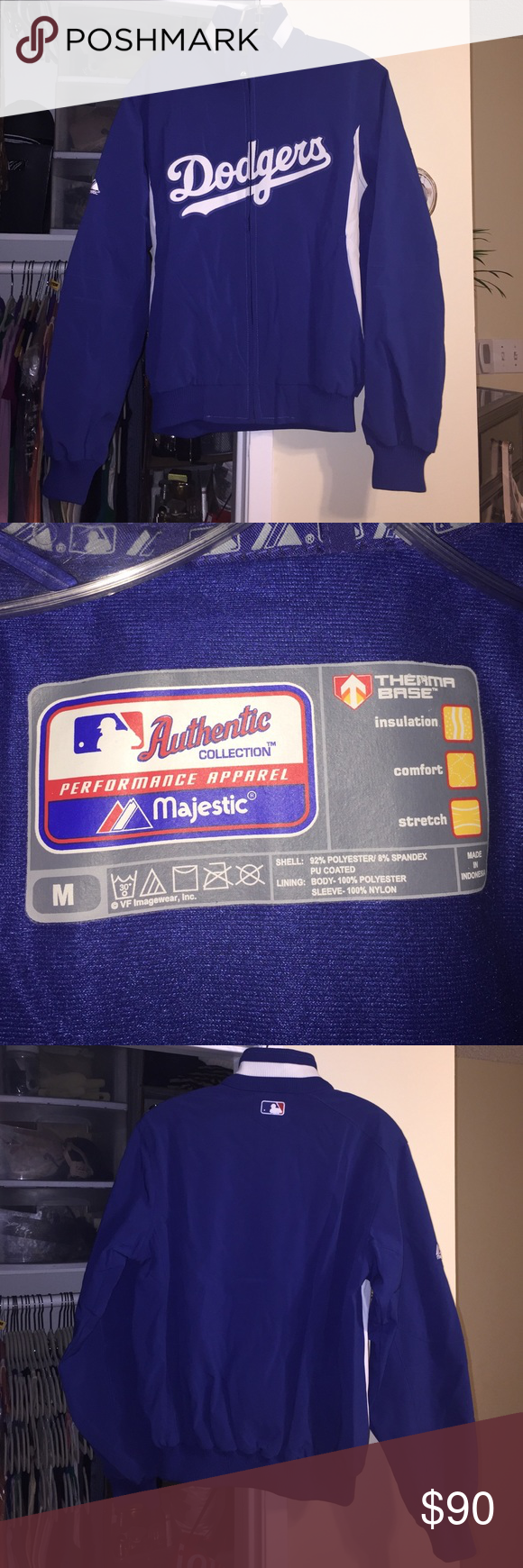 Authentic LA Dodgers Jacket My ex bought this for me at an LA Dodgers game. I wore it once. It is like new. It fits true to size. Thanks for your interest! Authentic Collection  Jackets & Coats