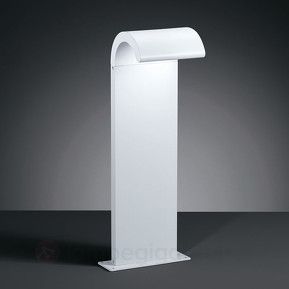 Moderne designet LED-sokkellampe Oxel, mat hvid