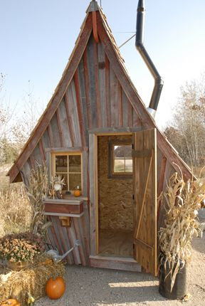 Playhouse by www.rusticway.com   They also build Garden Sheds, Guest Houses and Saunas in the Same Style