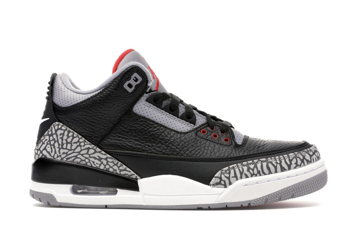 0e8ee117 Check out the Jordan 3 Retro Black Cement (2018) available on StockX ...