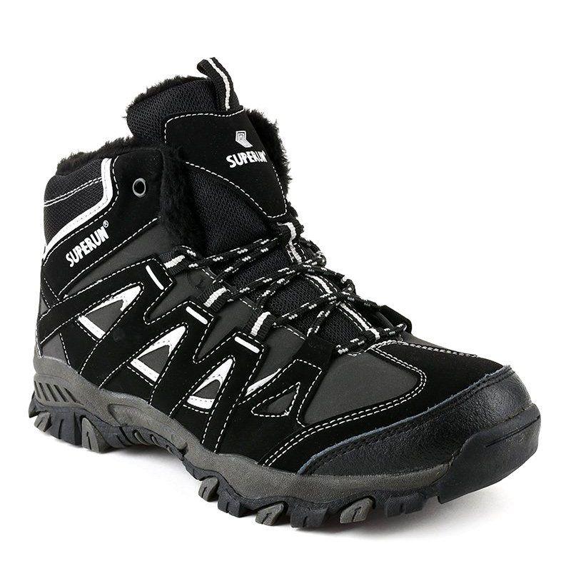 Black Solid 6282 Men S Hiking Boots Grey Black Boots Men Mens Hiking Boots Men Hiking