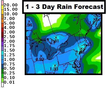 1 - 3 Day Rain Forecast