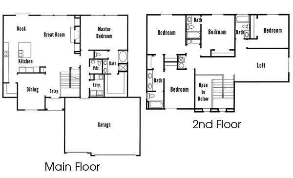 Woodside Homes Floor Plans: The Willow Manor Home Floor Plan