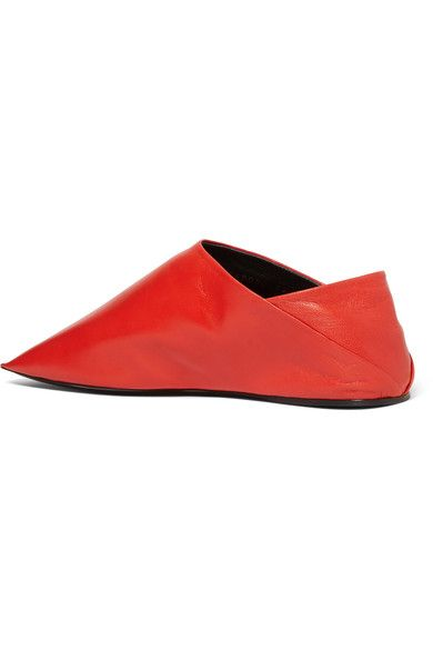 54bedc64313 Balenciaga - Leather Slippers - Red - IT41.5