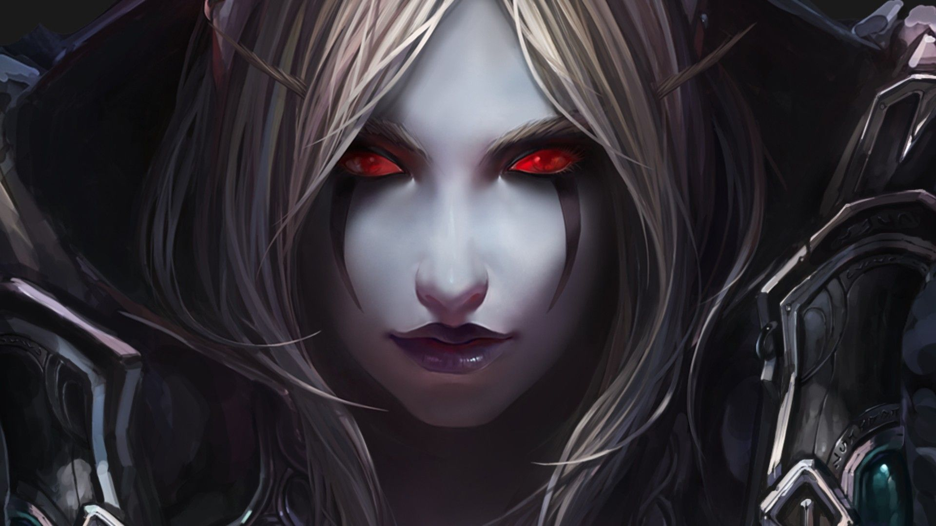 Abstract anime fantasy horror scary girl red eyes high - Abstract anime girl ...