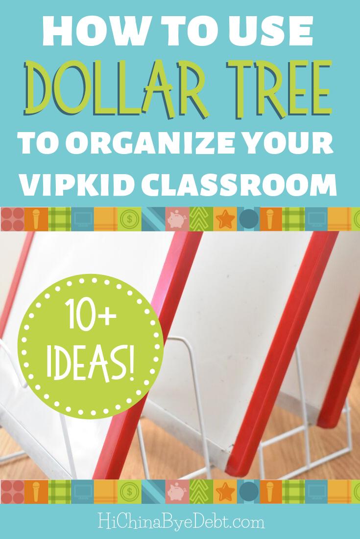 How To Use Dollar Tree To Organize Your Vipkid Classroom These Dollar Tree Organization Ideas Are Perfe Dollar Tree Classroom Dollar Tree Organization Vip Kid